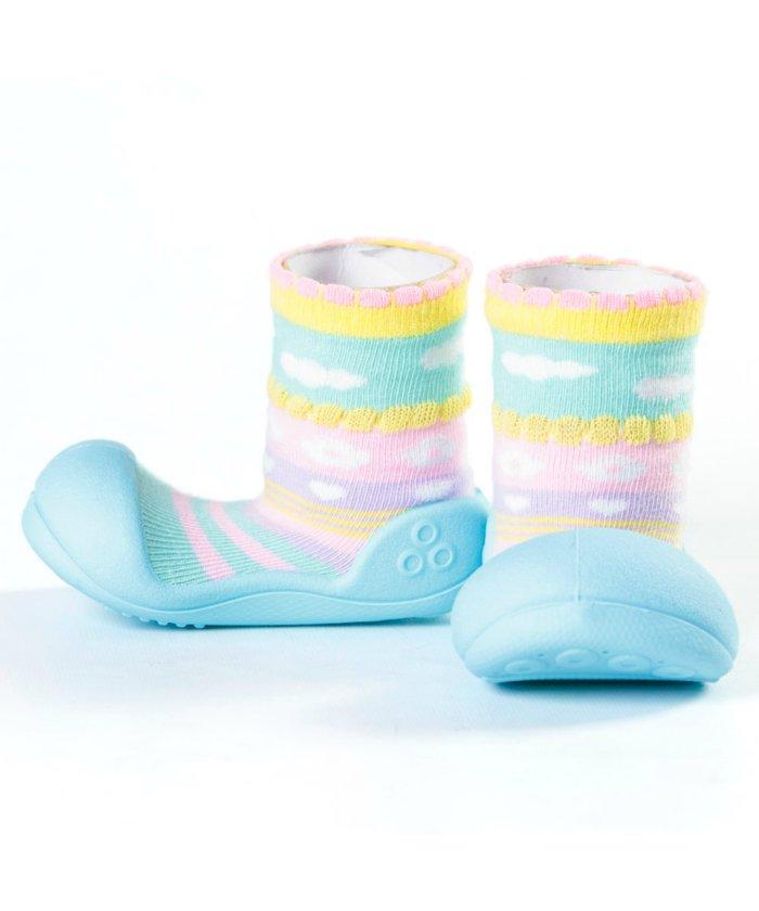 (FOOT PLACE/フットプレイス)アティパス Attipas ベビー 靴下 シューズ プレゼント ギフト AP−2700/キッズ ブルー