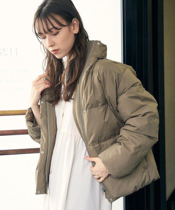 (ViS/ビス)【WEB限定】【Green Down】オーバーサイズショートダウン/レディース カーキ(36)