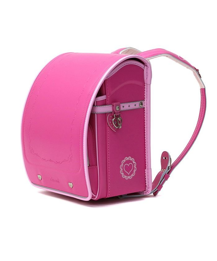 (KIDS AMI/キッズアミ)ランドセル 女の子 2021年 キッズアミ KIDS AMI ナース鞄工 シークレットチャーム 学習院型 ウィング背カン A4フラットファイル対応 26105/ ピンク