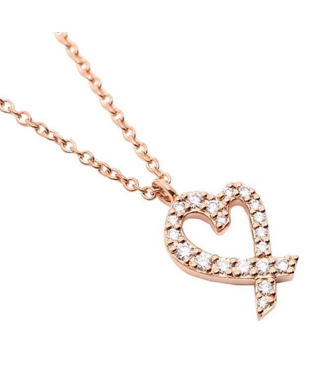 (Tiffany & Co./ティファニー)ティファニー ネックレス アクセサリー TIFFANY & Co. 26187869 ダイヤモンド ラビングハート スモール 16IN 18R ローズゴールド/レディース その他
