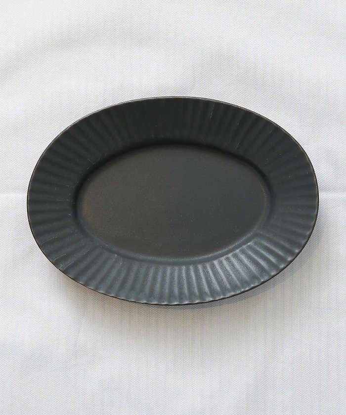 (collex/コレックス)《一部別注カラー》SAKUZAN 作山窯 StripeオーバルプレートS/レディース ブラック