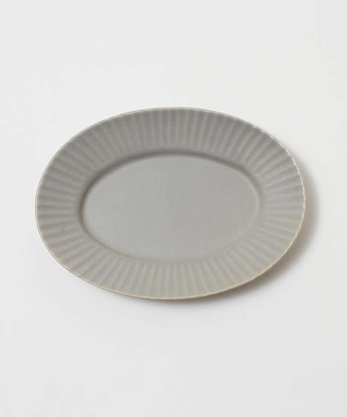 (collex/コレックス)《一部別注カラー》SAKUZAN 作山窯 StripeオーバルプレートS/レディース グレー