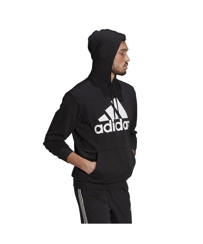(adidas/アディダス)アディダス/メンズ/エッセンシャルズ ビッグロゴ パーカー / Essentials Big Logo Hoodie/メンズ ブラック/ホワイト