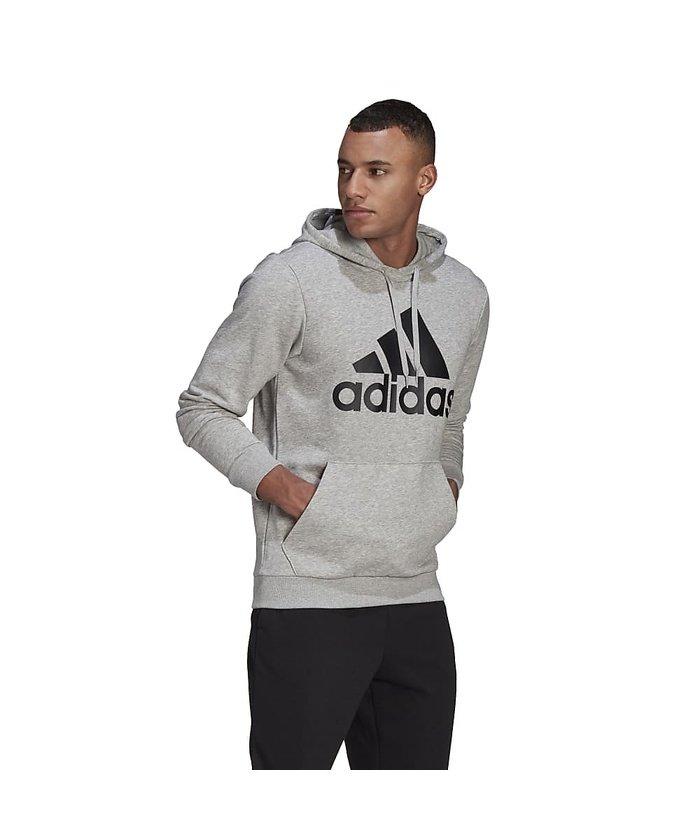 (adidas/アディダス)アディダス/メンズ/エッセンシャルズ ビッグロゴ パーカー / Essentials Big Logo Hoodie/メンズ ミディアムグレーヘザー/ブラック