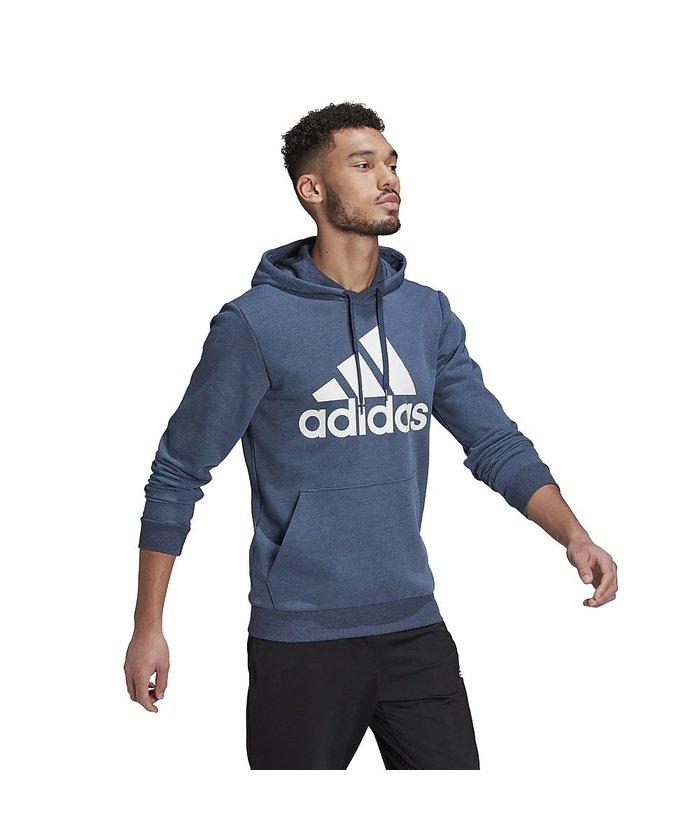 (adidas/アディダス)アディダス/メンズ/エッセンシャルズ ビッグロゴ パーカー / Essentials Big Logo Hoodie/メンズ クルーネイビーメランジ/ホワイト