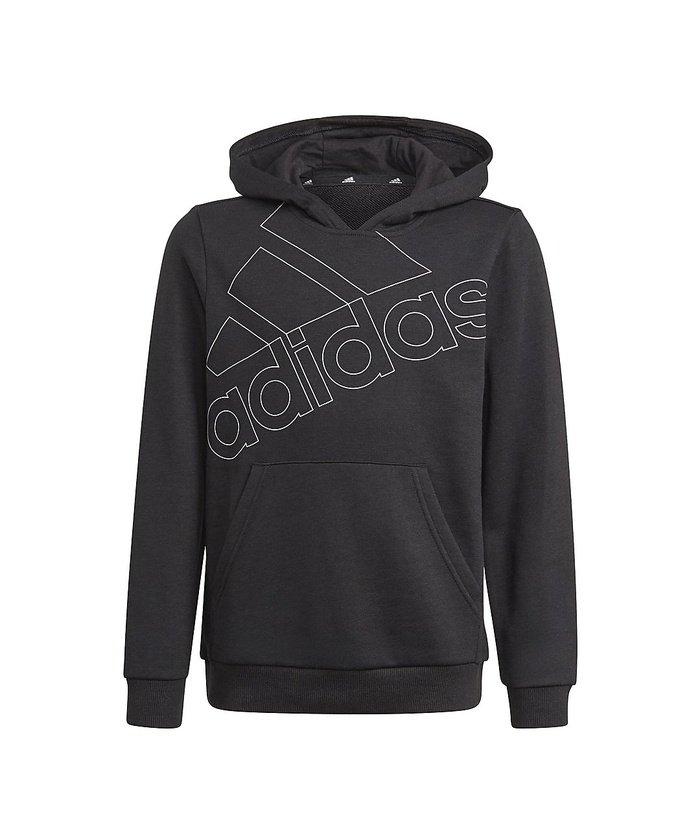 (adidas/アディダス)アディダス/キッズ/アディダス エッセンシャルズ ロゴパーカー / adidas Essentials Logo Hoodie/ ブラック/ホワイト