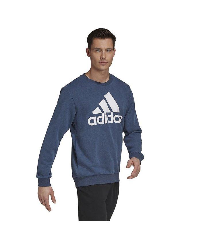 (adidas/アディダス)アディダス/メンズ/エッセンシャルズ ビッグロゴ スウェット / Essentials Big Logo Sweatshirt/メンズ クルーネイビーメランジ/ホワイト