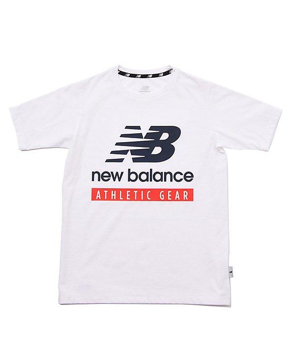 (New Balance/ニューバランス)ニューバランス/キッズ/NB ESSENTIALS NBロゴ Tシャツ/ ホワイト