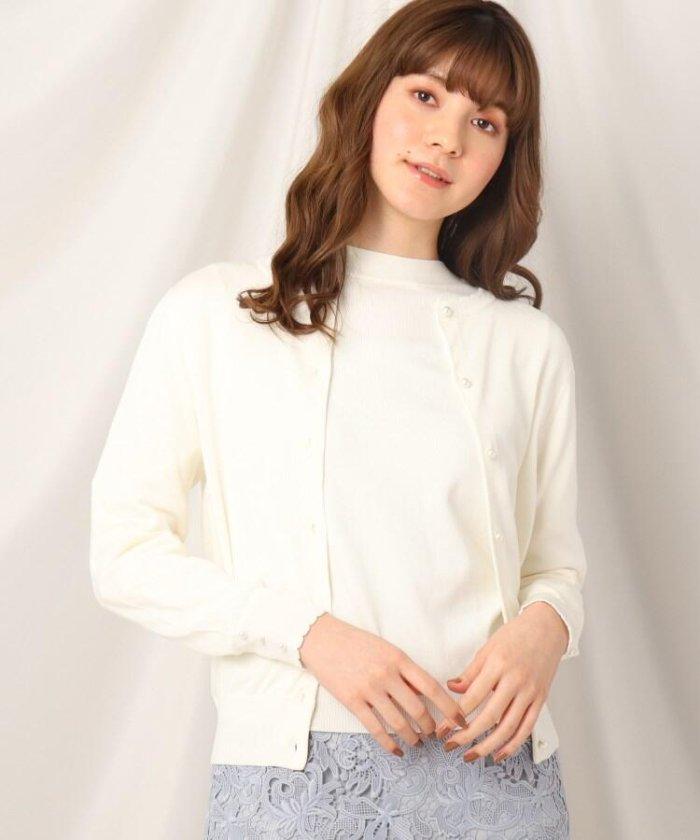 (Couture Brooch/クチュール ブローチ)シルク混カーディガン/レディース オフホワイト(003)