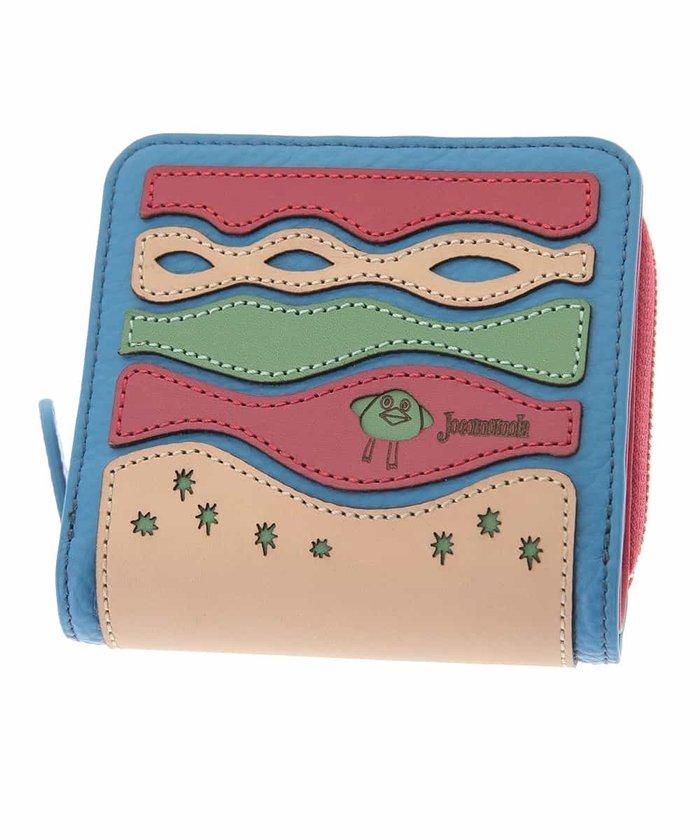 (Jocomomola/ホコモモラ)カットデザイン二つ折り財布/レディース ブルー