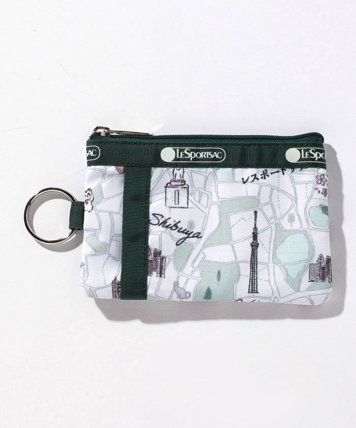 (LeSportsac/レスポートサック)ID CARD CASE トウキョウマップ/ユニセックス グリーン系