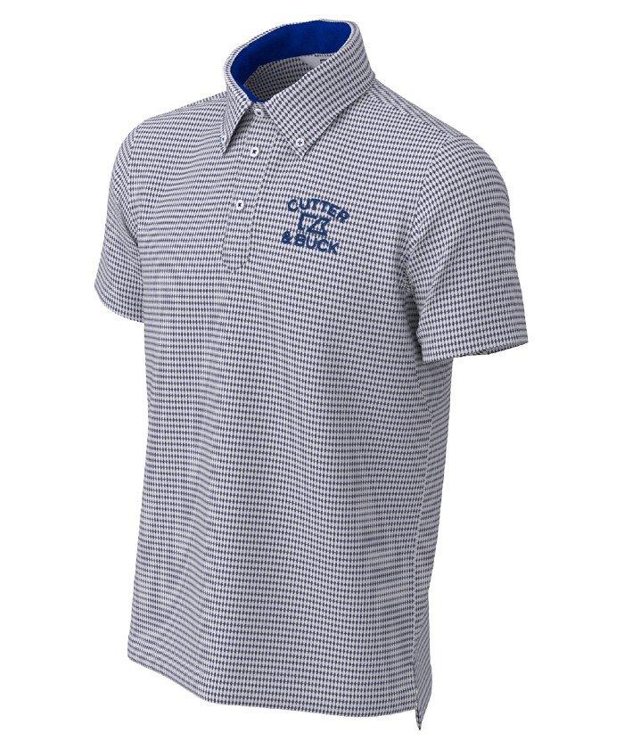 (CUTTER&BUCK/カッターアンドバック)クーリストD−TECミニダイヤBDカラーシャツ/メンズ ネイビー系