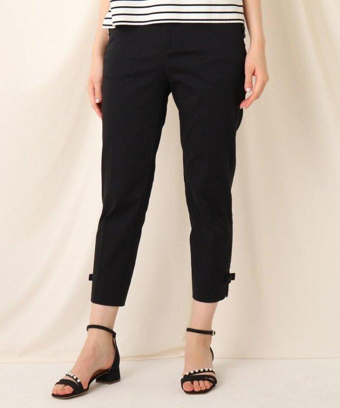 (Couture Brooch/クチュール ブローチ)裾リボンテーパードパンツ/レディース ブラック(019)