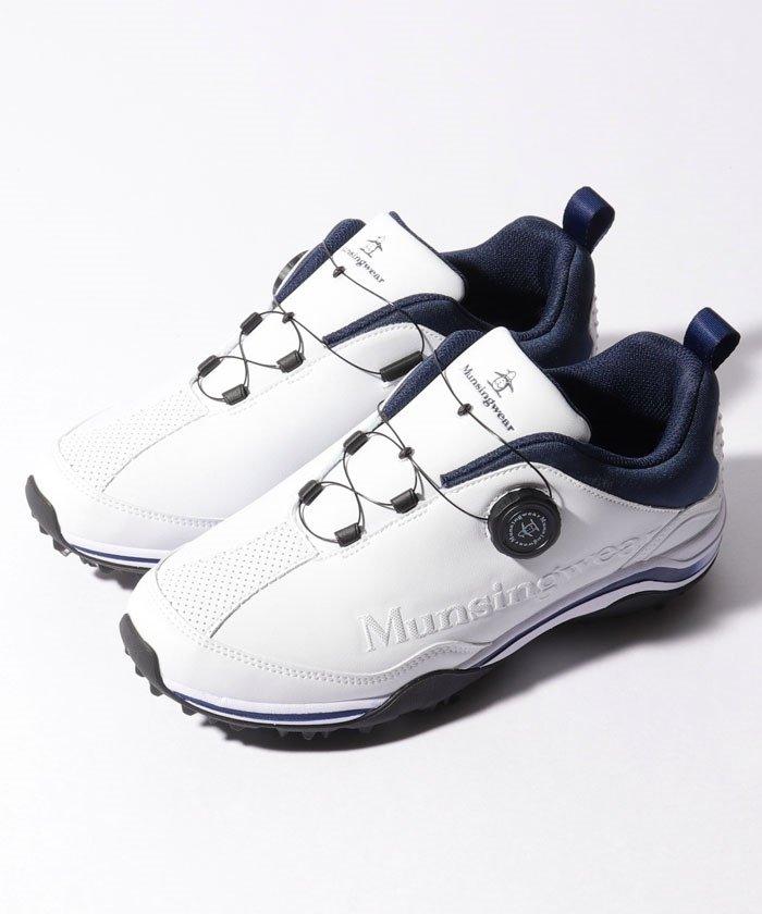 (Munsingwear/マンシングウェア)ゴルフシューズ(スパイク・ワイヤーロック式)/メンズ ホワイト系