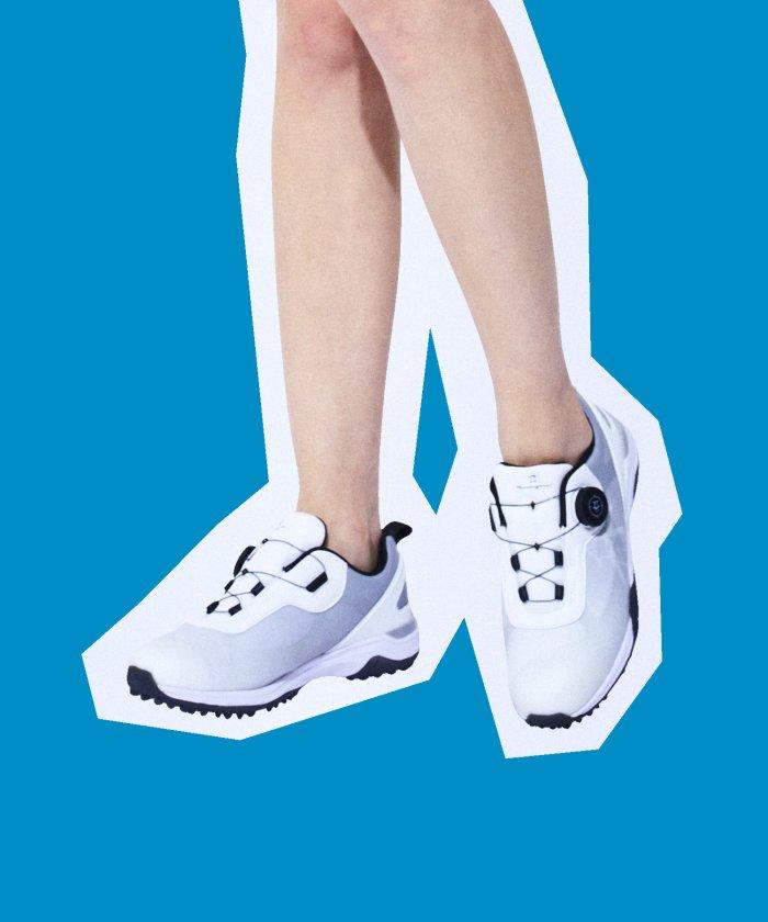 (Munsingwear/マンシングウェア)ゴルフシューズ(スパイクレス・ワイヤーロック式)/レディース グレー系