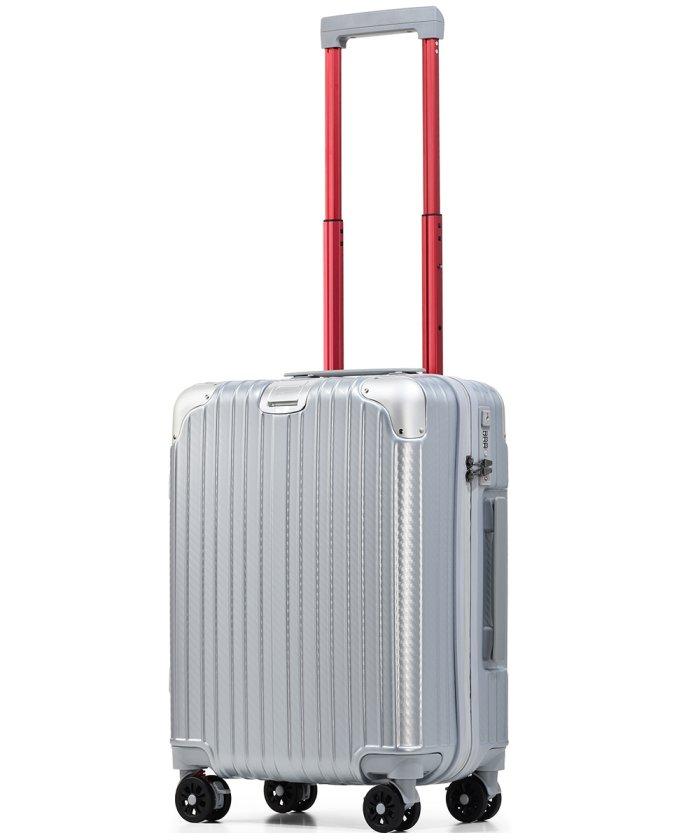 (tavivako/タビバコ)PROEVO スーツケース 小型 Sサイズ 超静音 ストッパー付き ショック吸収サスペンション 8輪キャスター 防水 ダイヤル式TSAロック/ユニセックス シルバー系1