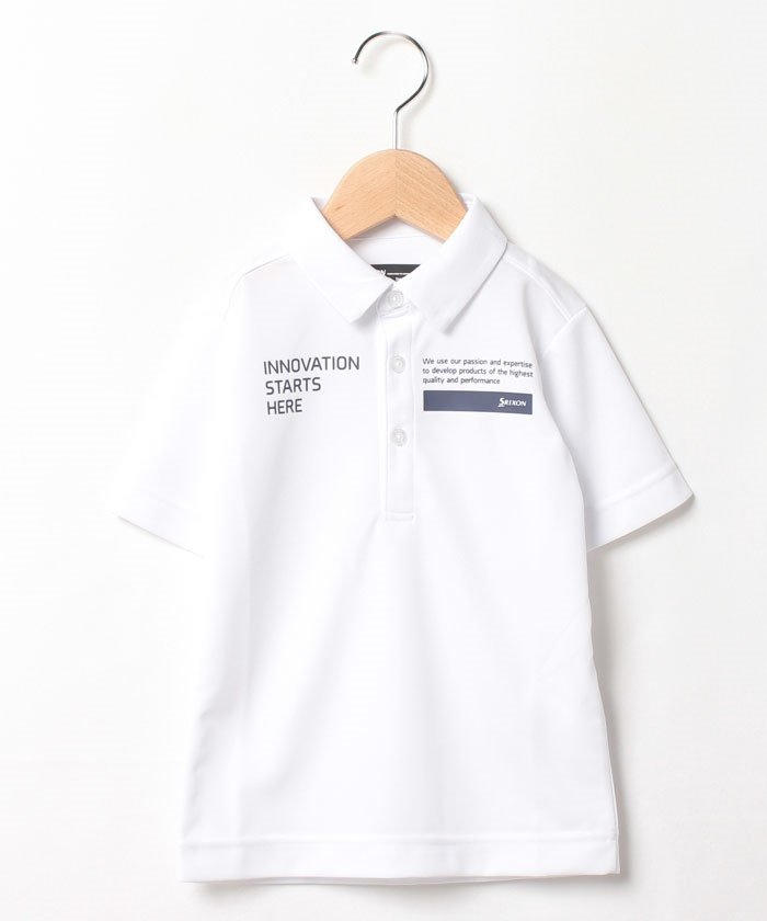 (SRIXON/スリクソン)【ジュニア別注】 定番半袖シャツ/メンズ ホワイト系