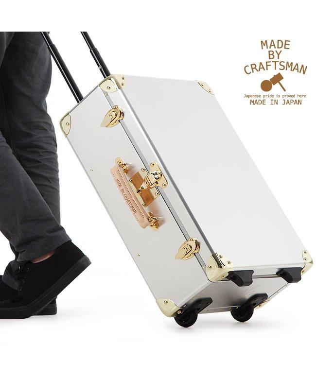 (MADE BY CRAFTSMAN/メイドバイクラフトマン)スーツケース 機内持ち込み アルミ 日本製 トランクケース トランクキャリー MBC−001/ユニセックス シルバー