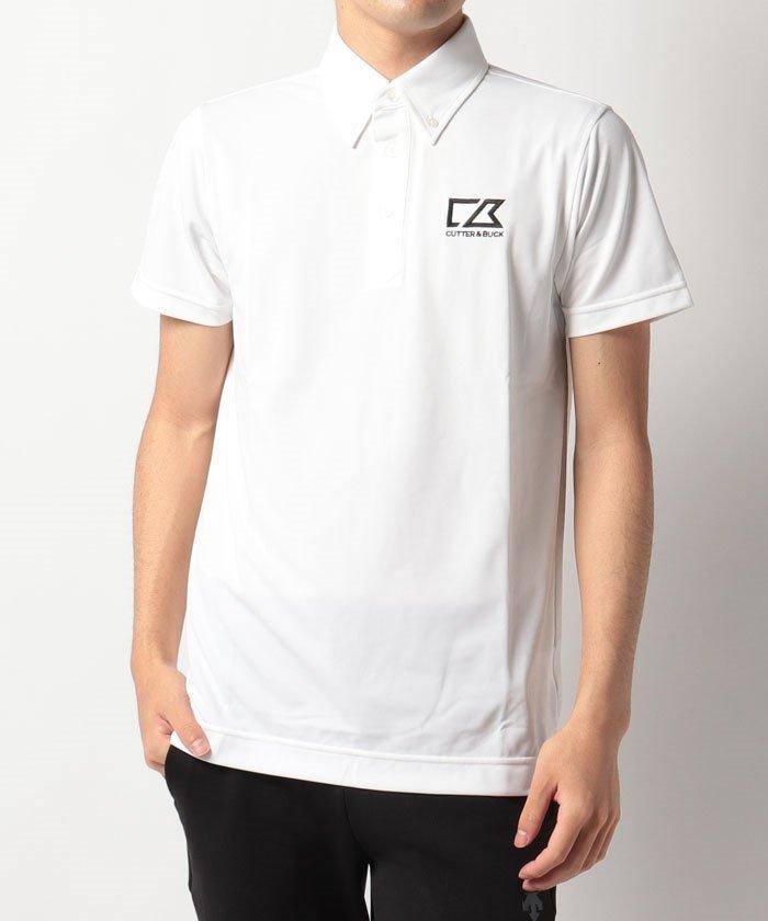(CUTTER&BUCK/カッターアンドバック)ロゴ刺しゅう入りボタンダウンシャツ/メンズ ホワイト系
