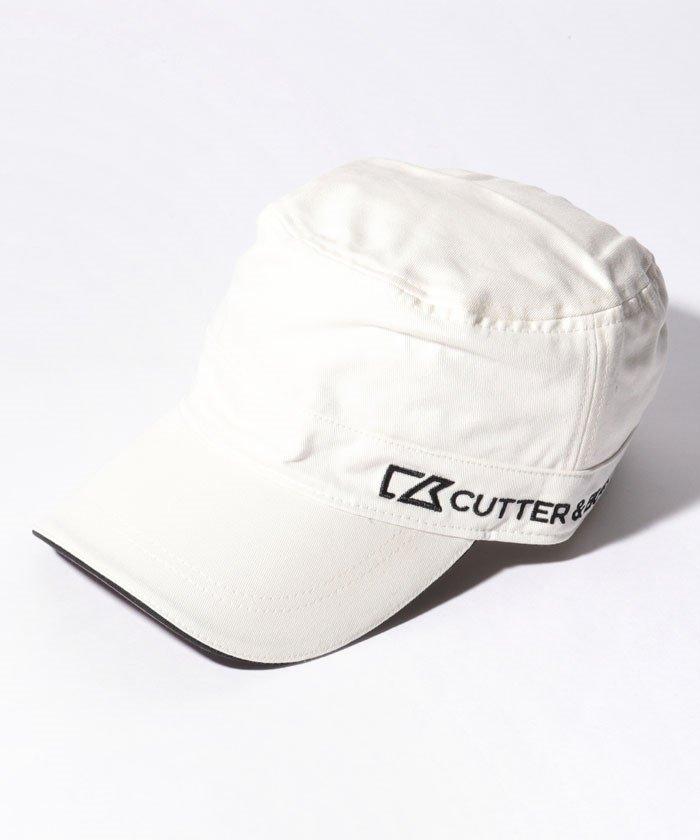 (CUTTER&BUCK/カッターアンドバック)ロゴ刺しゅう入りワンポイントワークキャップ/メンズ ホワイト系