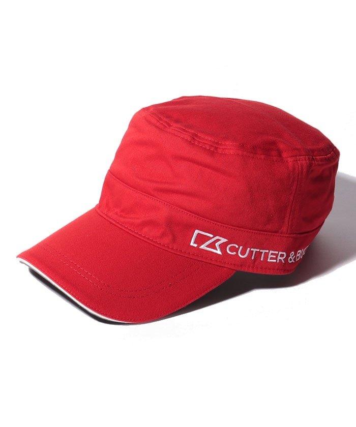 (CUTTER&BUCK/カッターアンドバック)ロゴ刺しゅう入りワンポイントワークキャップ/メンズ レッド系