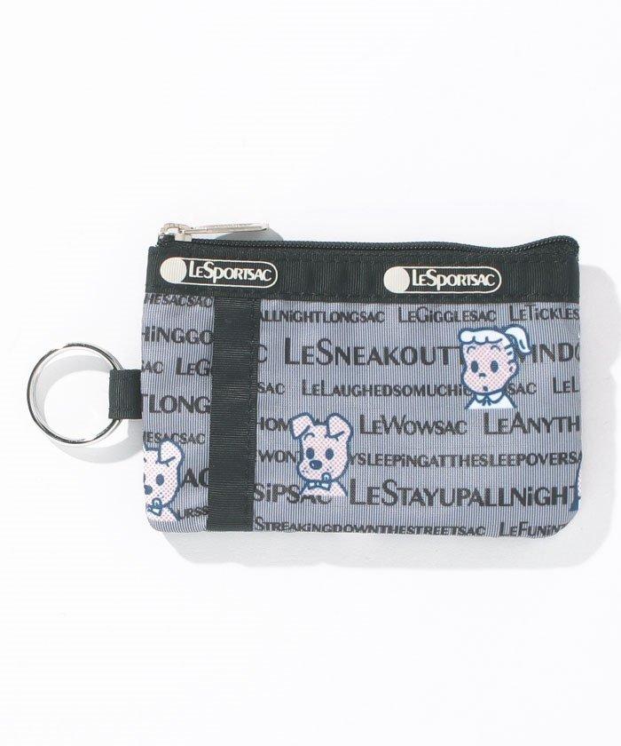 (LeSportsac/レスポートサック)ID CARD CASEオサムタイポグラフィ/ユニセックス グレー系