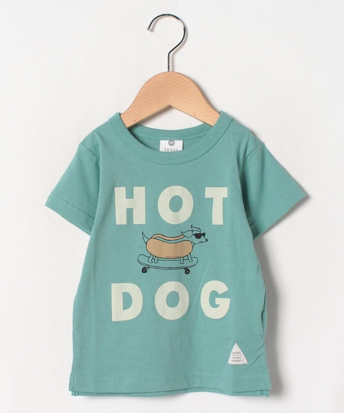 (SKAPE/エスケープ)ホットドッグTシャツ/キッズ グリーン