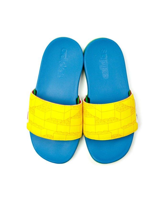 (adidas/アディダス)アディダス adidas レゴ コラボ キッズ サンダル シャワーサンダル アディレッタ ZE−ADILETTECFK/キッズ イエロー