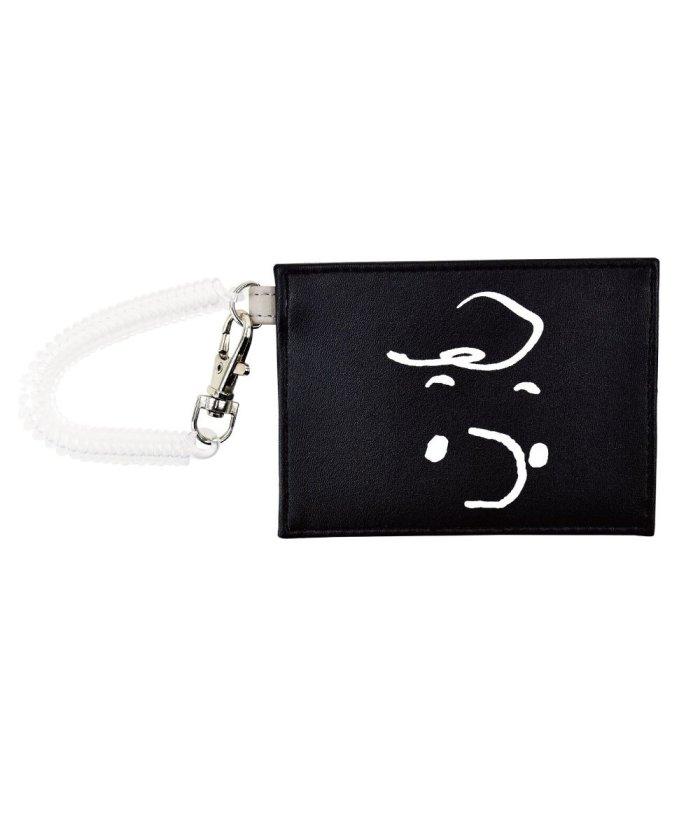 (RUNNER/ランナー)スヌーピー パスケース 定期入れ 合成皮革 コイル付き 2枚 キャラクター シンプル ICカードケース カードケース コンパクト 通勤 コイル かわいい 可愛い/ユニセックス ブラウン