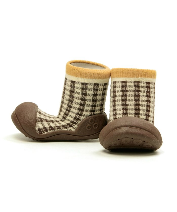 (FOOT PLACE/フットプレイス)アティパス Attipas ベビー 靴下 シューズ プレゼント ギフト AP−2700/キッズ ブラウン系1