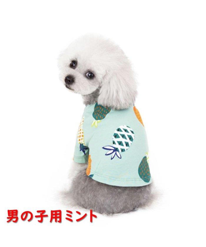 (mowmow/マウマウ)犬 犬服 犬の服 女の子用 男の子用 ワンピース スカート パイナップル かわいい dcos0029/ユニセックス ミント系1