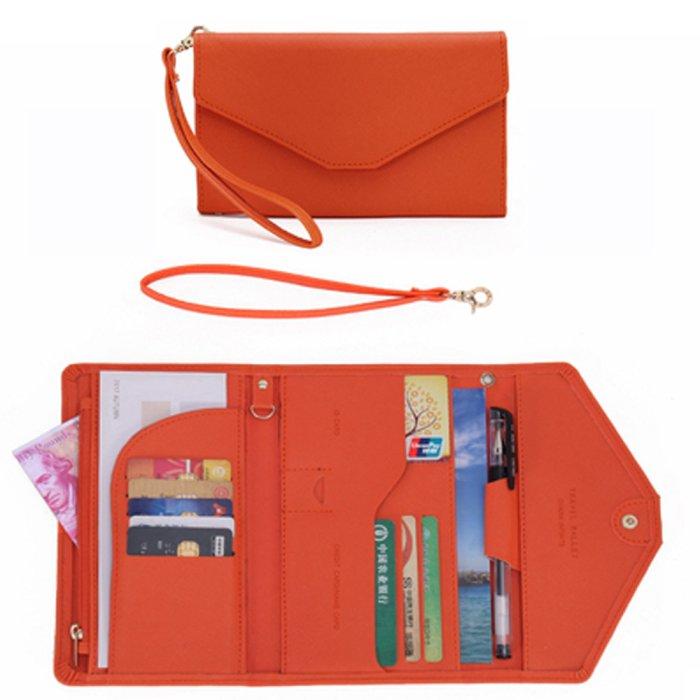 (miniministore/ミニミニストア)パスポート チケットケース 財布 薄型/レディース オレンジ