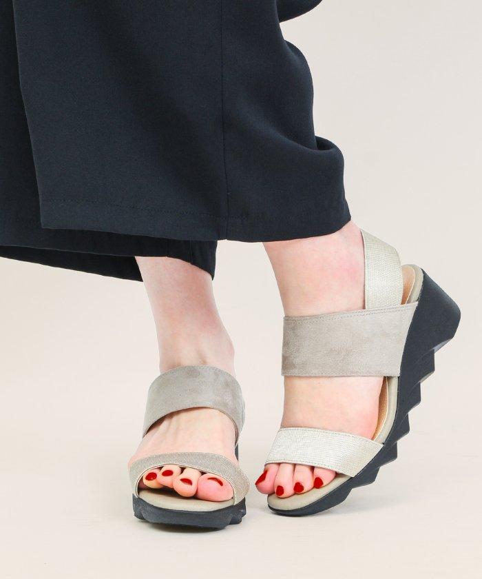 (Fashion Letter/ファッションレター)コンフォートサンダル ヒール レディース 立ち仕事靴 オフィス 室内履き コンフォートシューズ 日本製 FIRSTCONTACTファーストコンタクト ナースシュ/レディース ライトグレー