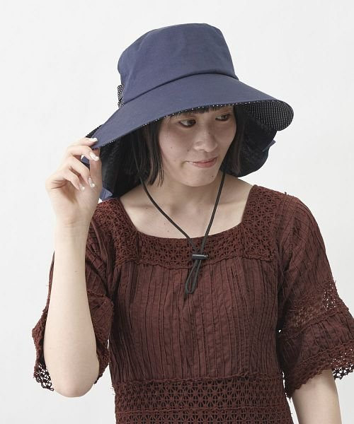 (marie claire bis/マリクレールビス)marie claire bis DOT GATHERHAT/レディース ネイビー