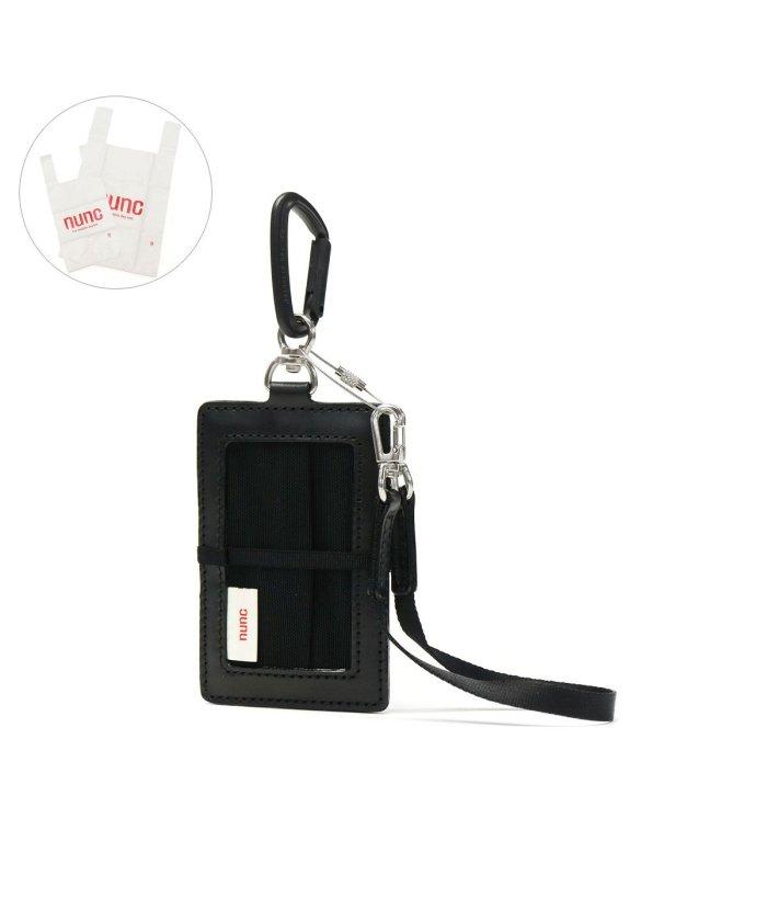 (nunc/ヌンク)ヌンク カードケース Issue イシュー カードホルダー 本革 レザー レジ袋 プラスチックバッグ エコバッグ カラビナ ストラップ ホルダー NN111/ユニセックス ブラック