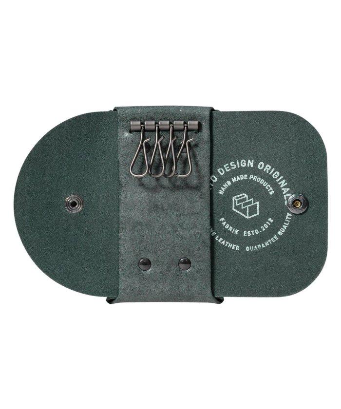 (FABRIK/ファブリック)ファブリック FABRIK キーケース メンズ レディース 本革 4連 KEY CASE ブラック ブラウン レッド ブルー ダーク グリーン 黒 F13032/ユニセックス ダークグリーン